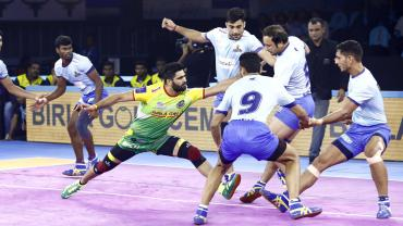 Pardeep Narwal against Tamil Thalaivas