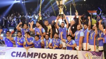 Indian Kabaddi Team after winning 2016 World Cup