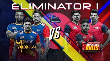 Pro Kabaddi League elinimator 1 UP Yoddha vs Bengaluru Bulls