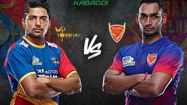 UP Yoddhas vs Dabang Delhi