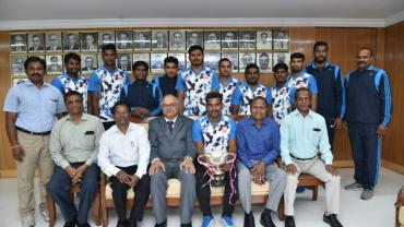 South Central Railways winning team