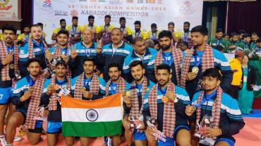 SAG Kabaddi Indian Winning Team
