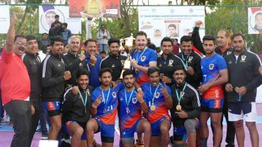 Indian Railways team after winning 67th Kabaddi senior national