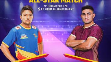 All star match UP Yoddha vs Star Warriors