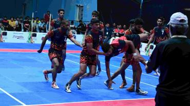 The second match between Ram Swaroop Kabaddi Academy and Bhaini School was a close draw with a score line of 35-36 towards Bhaini School