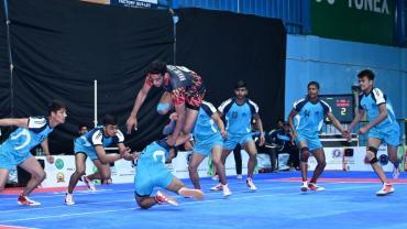 Mohit Goyat in action for Bhaini School