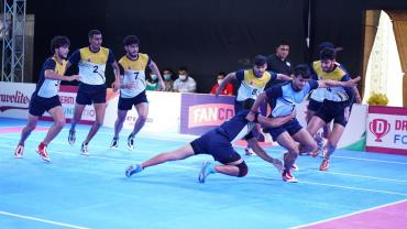 K7 Kabaddi Stage Up matches in action