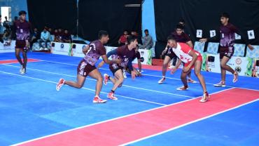 Players in Action on the Mat