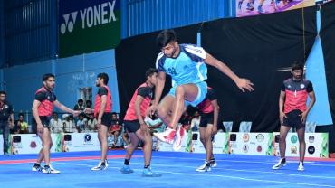 Shivam in action during the K7 Qualifiers