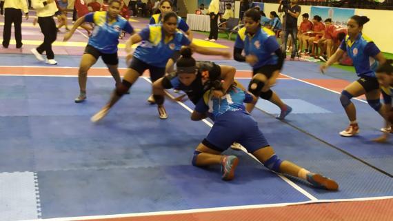 Day 2 of the 66th Womens National Kabbadi Championship at Patna