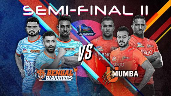 Semi final Bengal warriors vs U Mumba