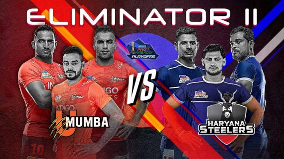 Pro Kabaddi Season 7 Eliminator 2 U Mumba vs Haryana Steelers