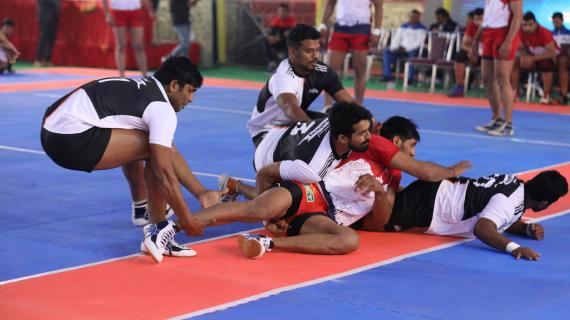 Brilliant Kabaddi at 38th AIMKC