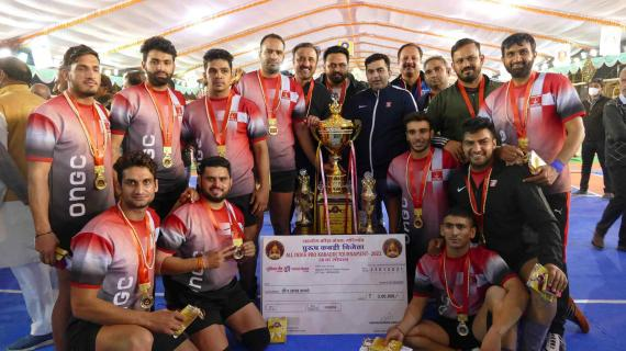 ONGC became the champions of 38th AIMKC