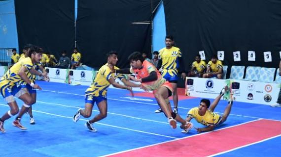 Mandeep in action during K7 Qualifiers