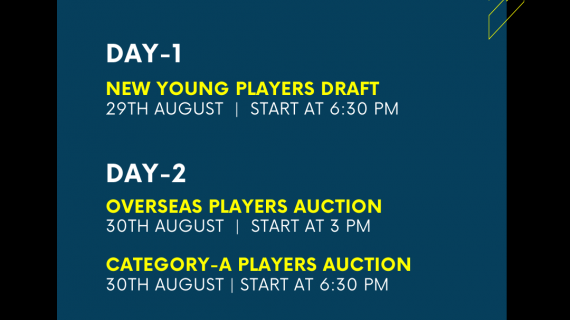 pkl8 auction schedule out
