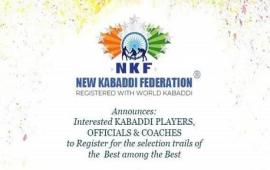 NKF's Indo International Premier Kabaddi League registration