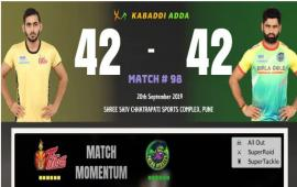 Telugu Titans is playing against Patna Pirates