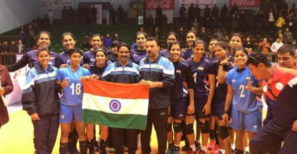 Indian women's kabaddi Team in SAG
